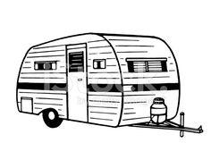 Camper clipart black white 3 » Clipart Station.