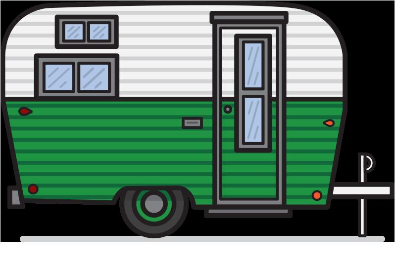 Caravan Campervans Clip art.