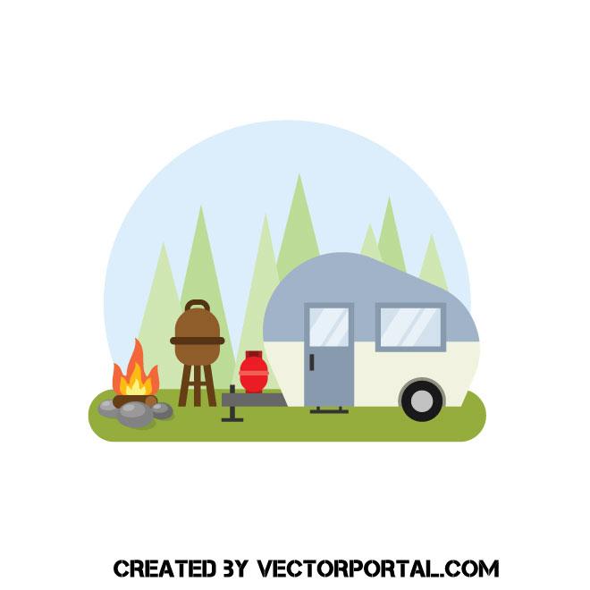 Camper trailer clip art.