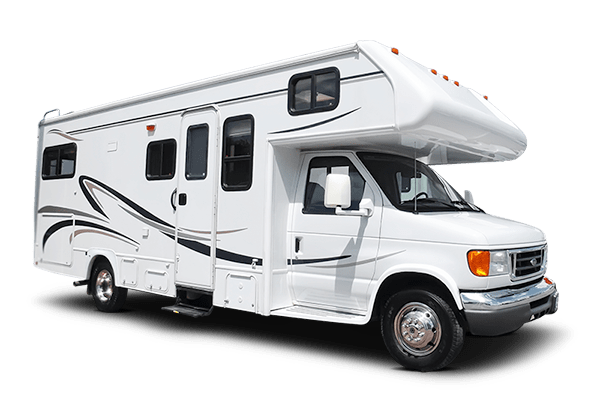Motorhome Side View transparent PNG.