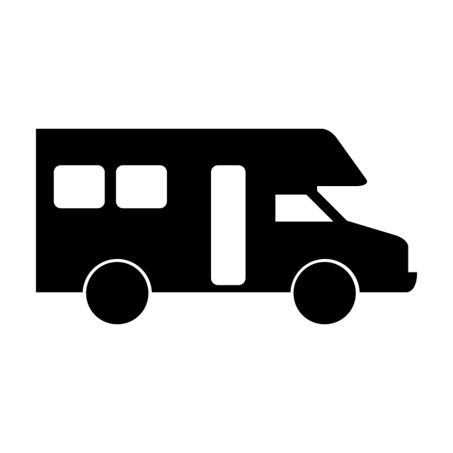 Camper Icon, Delivery, Van, Traffic PNG and Vector with Transparent.