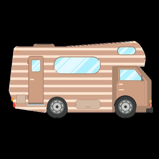 Campervan vehicle vector.