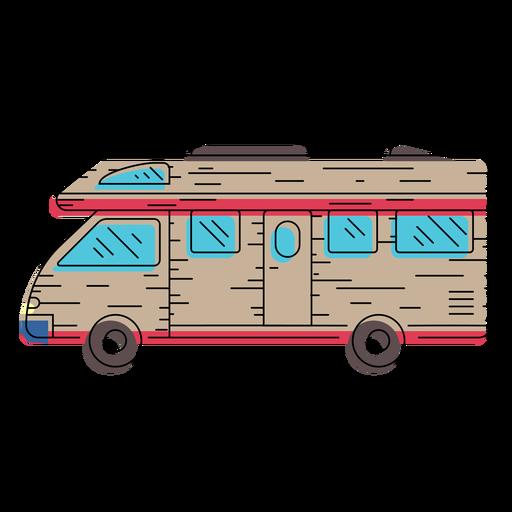 Camper vehicle illustration.