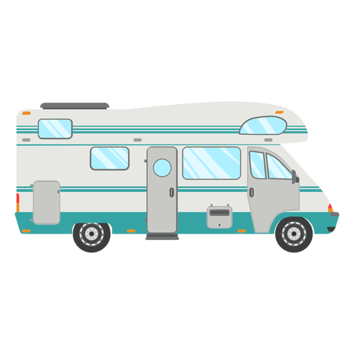 Travel camper vector.