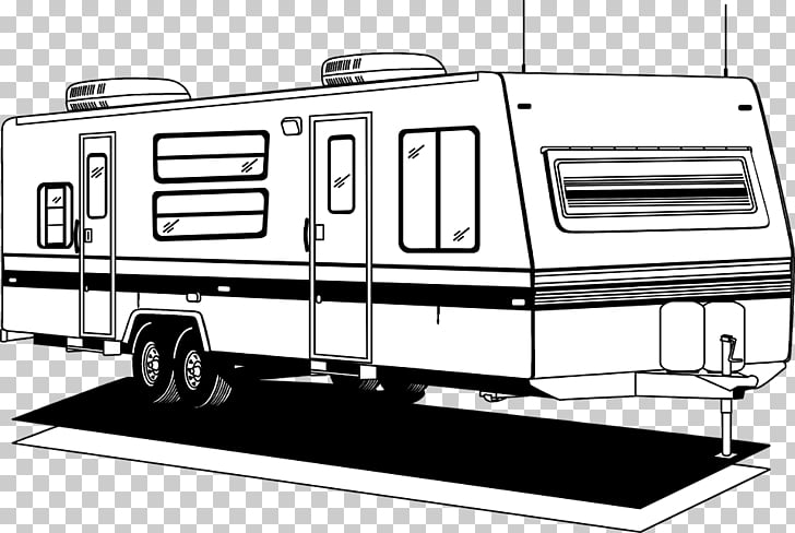 Campervans Caravan Camping Trailer, car PNG clipart.