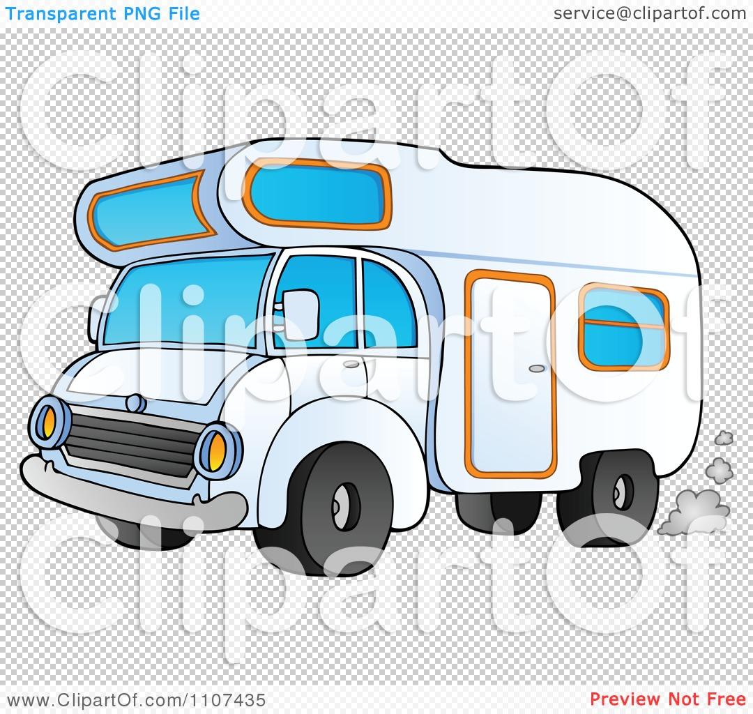 Clipart Driving Camper Van.