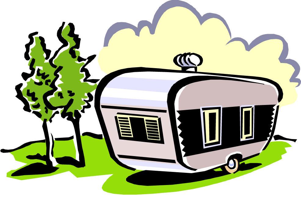 Rv camper clipart.