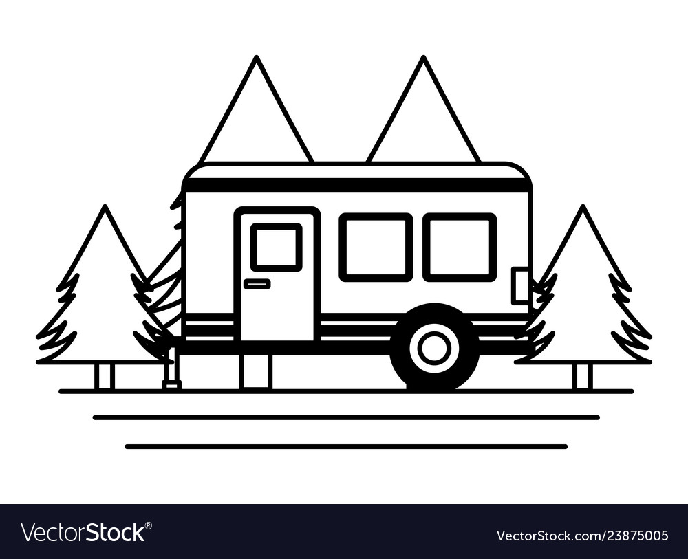 Camper trailer trees.