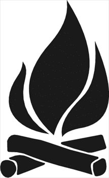 Campfire Party Clipart.