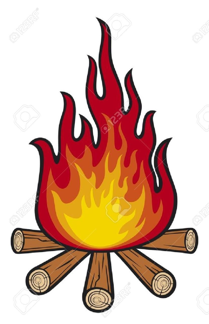 Free Vector Campfire Clipart.