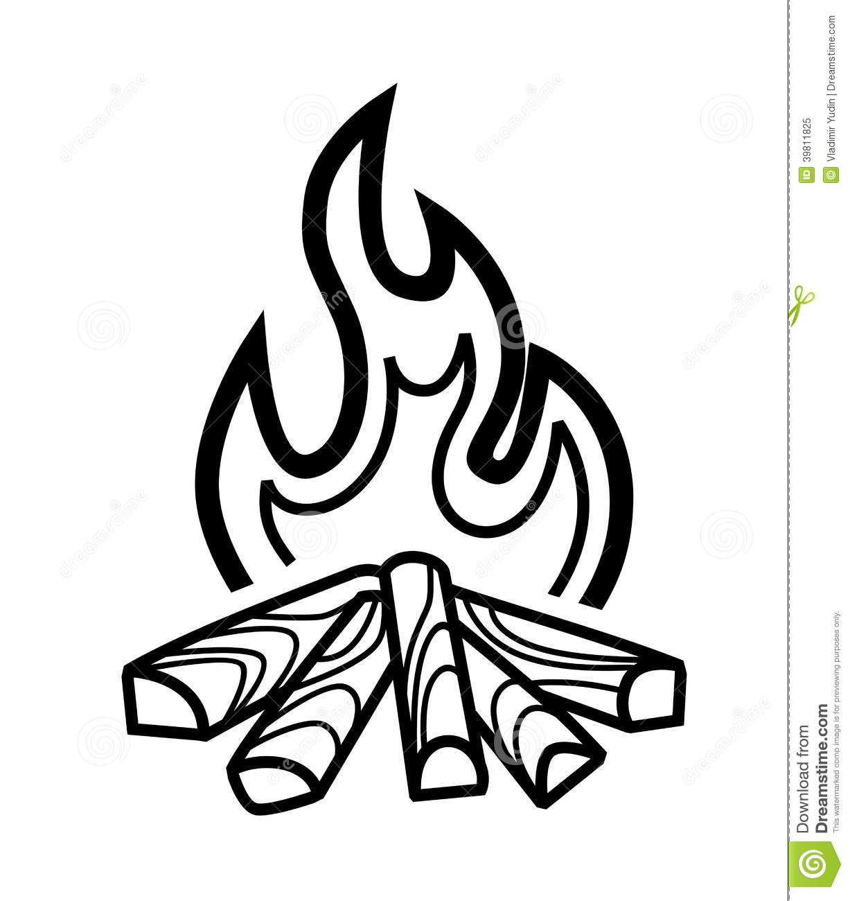 Campfire clipart black and white 6 » Clipart Station.
