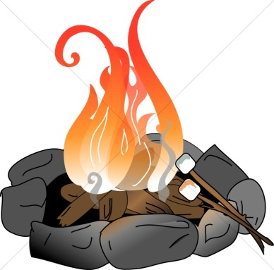 Campfire clipart camp fire.