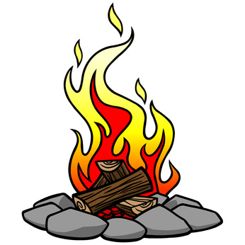 Campfire clipart camp fire.