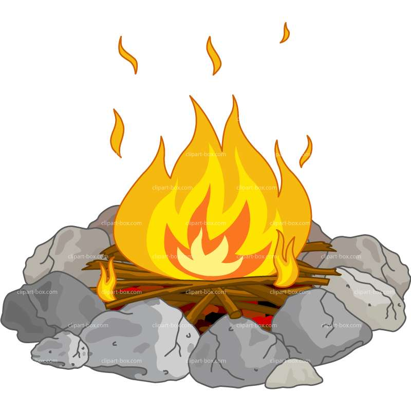 Campfire clipart 5.