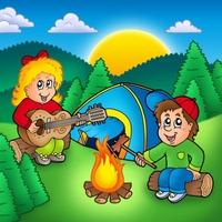Campfire Singing Cliparts.