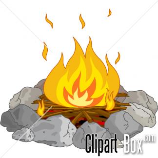 CLIPART CAMPFIRE.