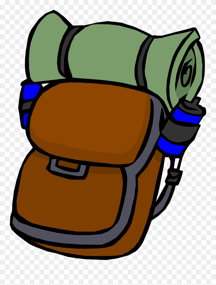 Camp Clipart Backpack.