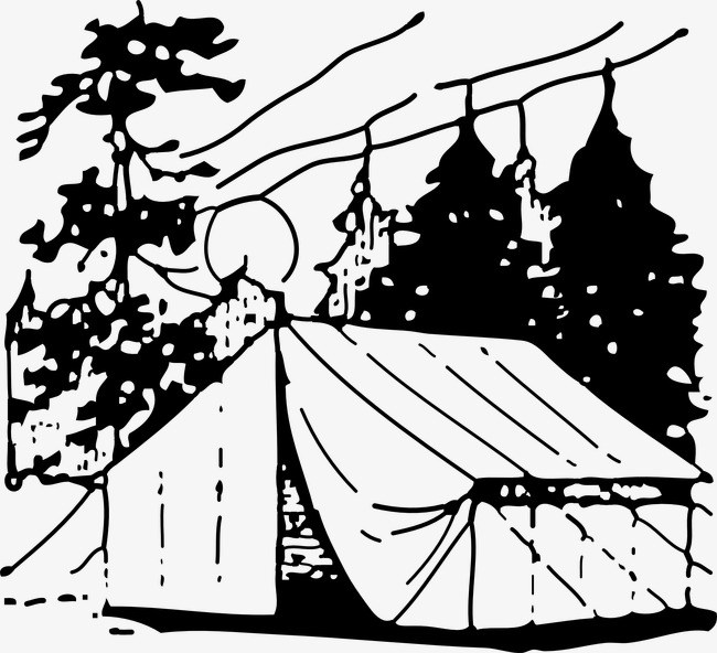 Camping black and white clipart 5 » Clipart Portal.