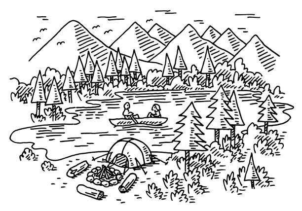 Transparent Camping Tent Illustrations, Royalty.