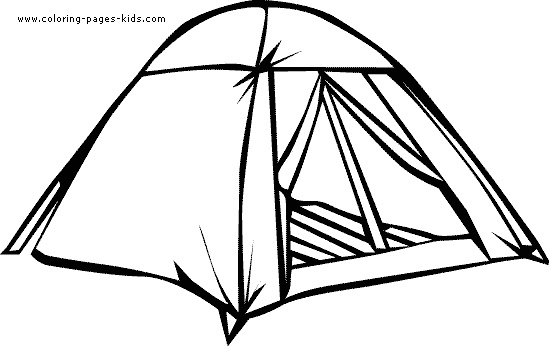 Camping Clipart Black And White.