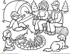 Free Black Camping Cliparts, Download Free Clip Art, Free Clip Art.