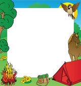 Free Camping Clipart Borders.
