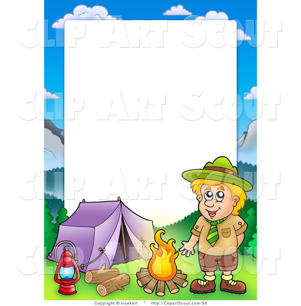 Summer Camp Border Clipart.