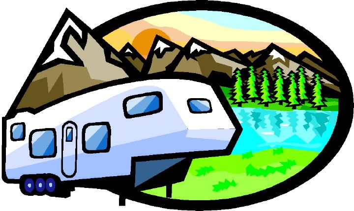 Rv Camping Cartoon Clipart.