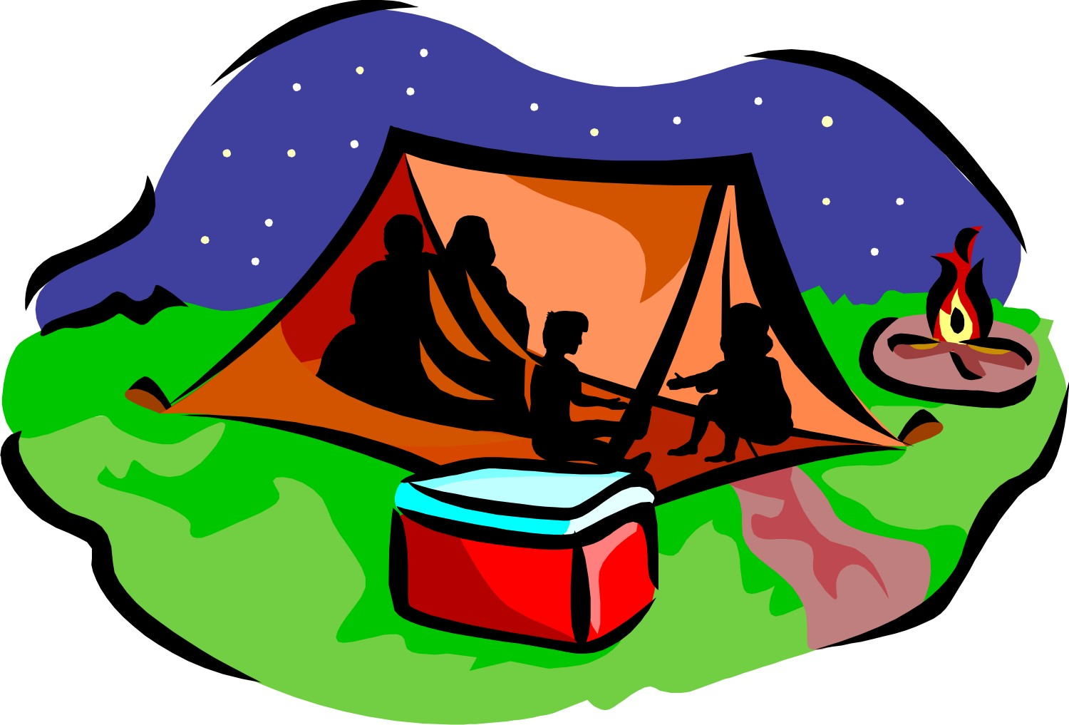 Cartoon Camping Clipart.