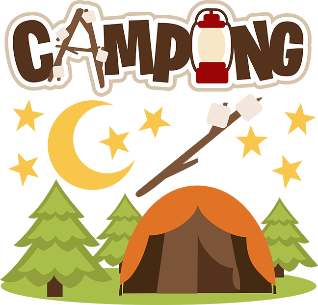 Cute camping clipart.