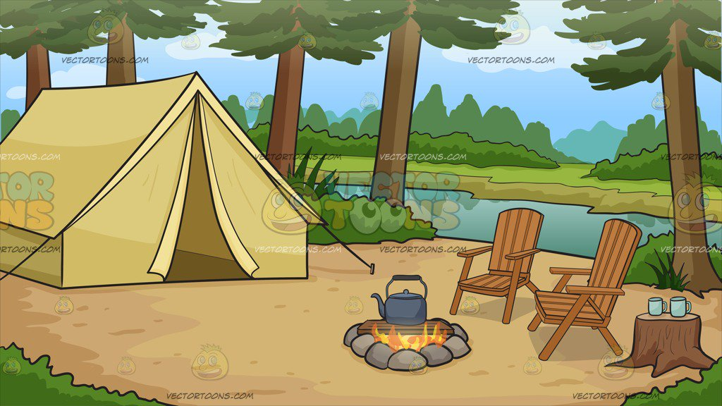 Camping Clipart Background.