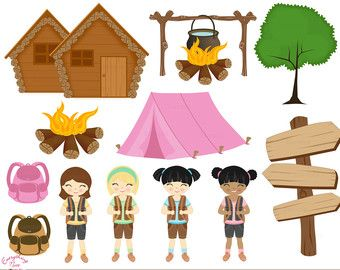 Girl Camping Clip Art 21 Camping Clipart Free.