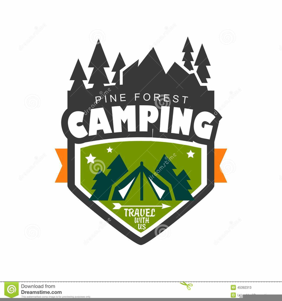 Funny Camping Clipart.