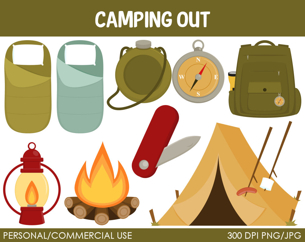 Camping equipment clipart #19