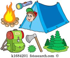 Camping equipment clipart #11