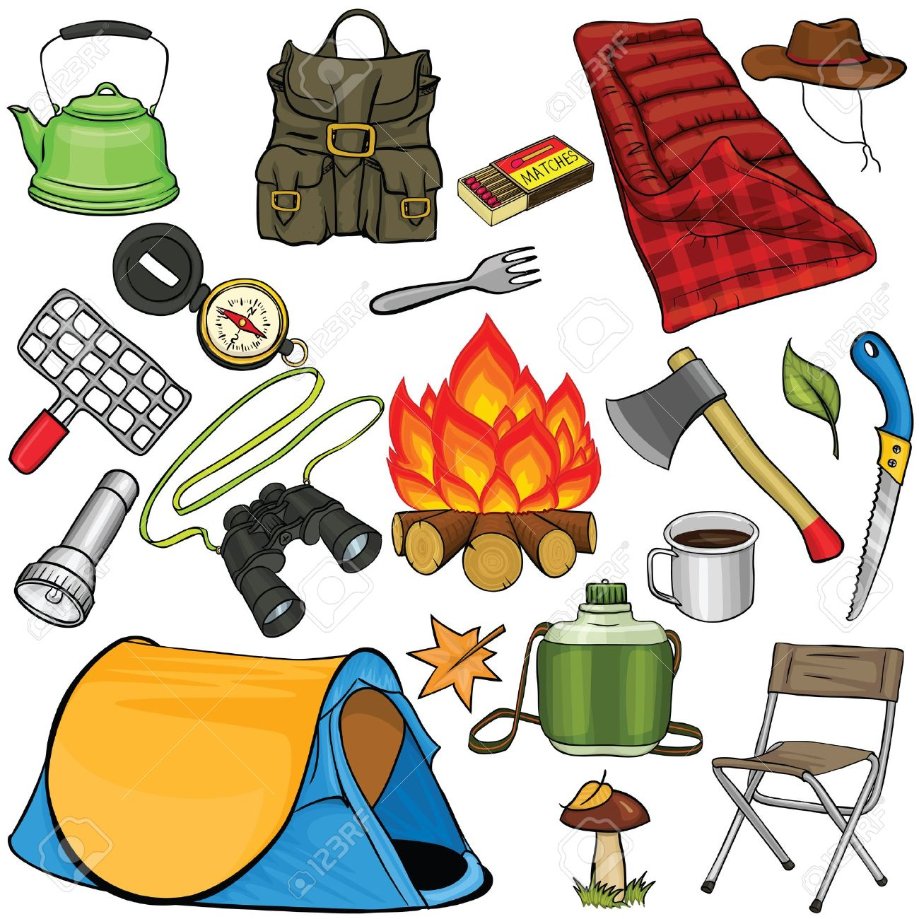 Camping equipment clipart #20