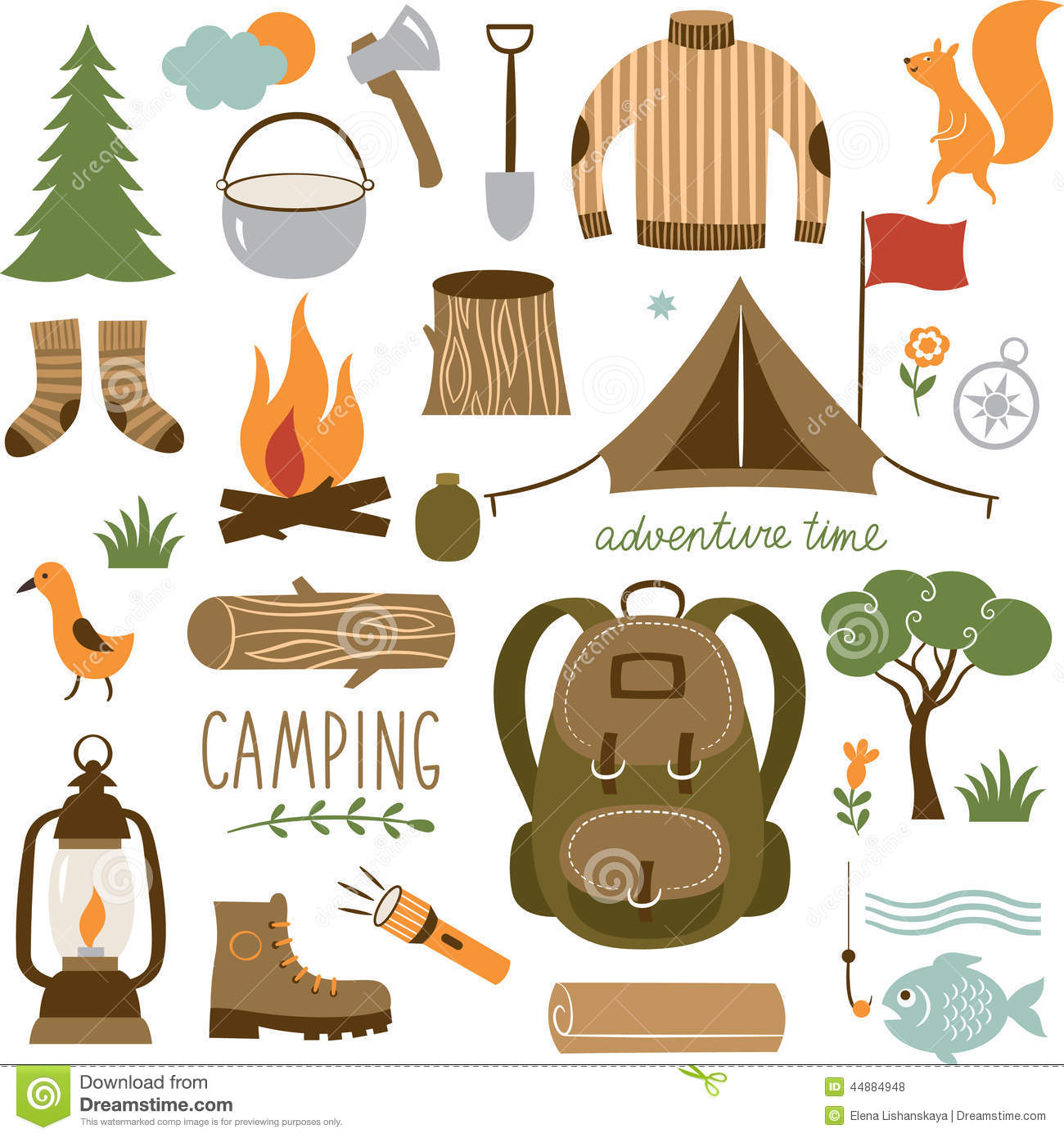 Camping Equipment Clipart