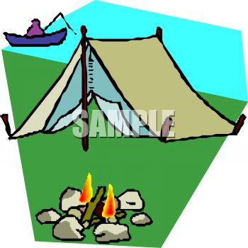 Kids Canoeing Clipart.