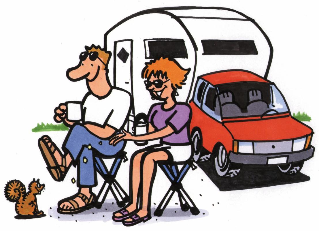Cartoon camping clip art.