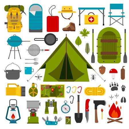3,034 Camping Gear Cliparts, Stock Vector And Royalty Free Camping.