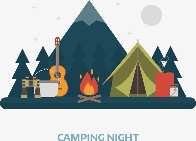 Vector Camping Camping Vector Vector Decoration Png And Vector.