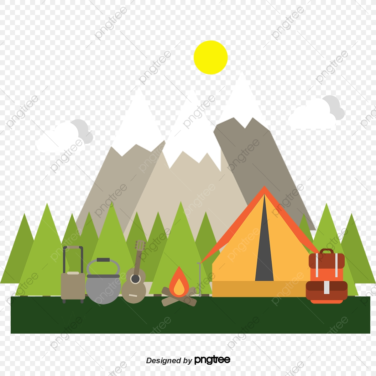 Vector Camping, Vector, Decoration, Camping PNG and Vector with.