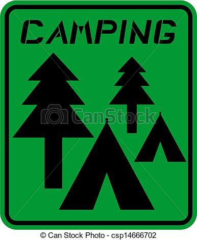 Camping sign.