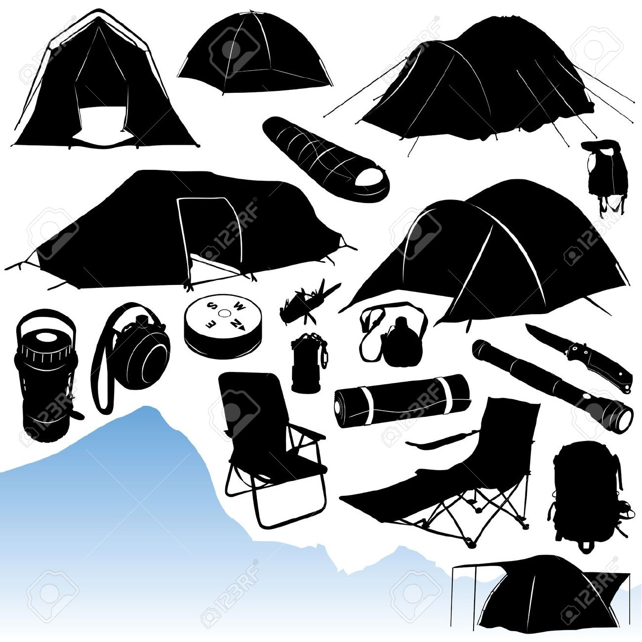 Camping Vector Royalty Free Cliparts, Vectors, And Stock.