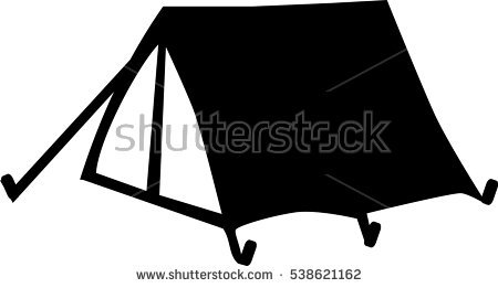 Camping Silhouette Stock Images, Royalty.