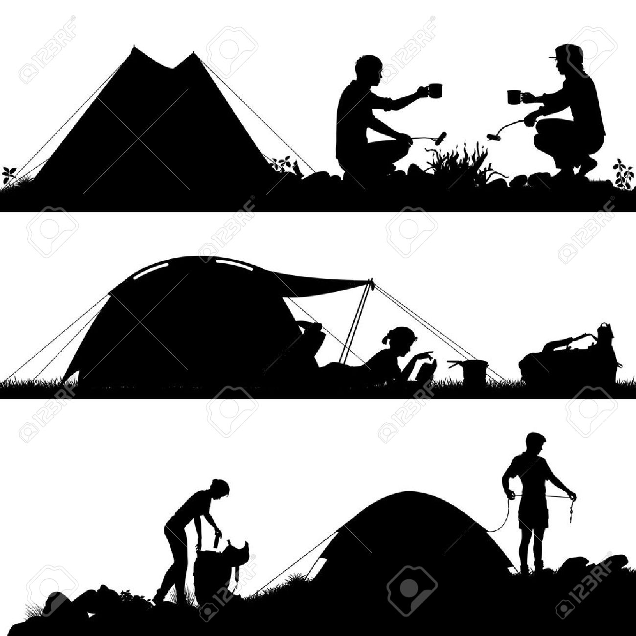 14880 Camping Tent Stock Vector Illustration And Royalty Free