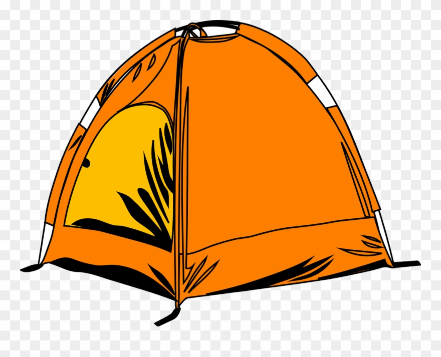Tent Camping Campsite Sleeping Bags Circus Clipart (#255228.