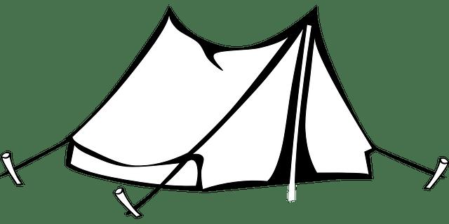 Camping Tent Clipart transparent PNG.