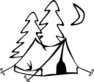Tent Clip Art Black And White.