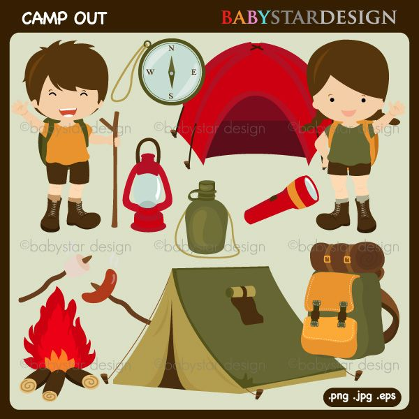 Camp Out Clipart.